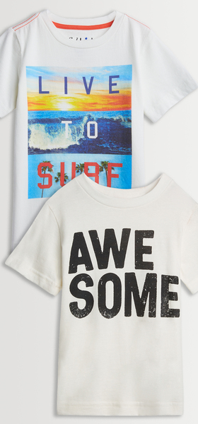 Live To Surf & Awesome Tee Pack