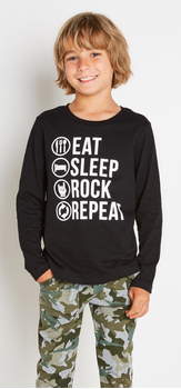 Eat Sleep Rock Camo Outfit