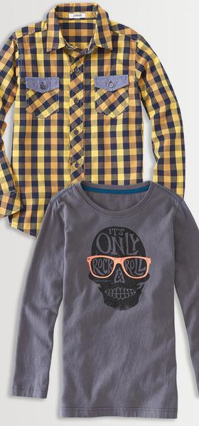 Plaid & Skull Shirt Pack