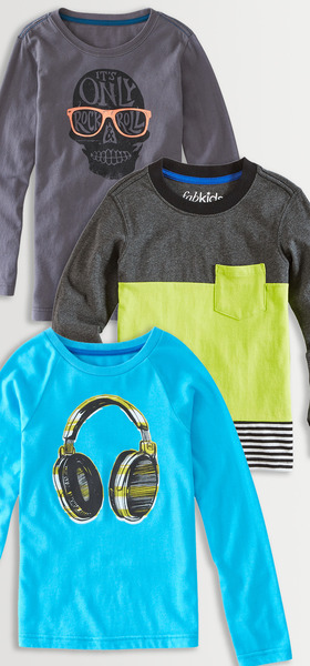 Graphic & Colorblock Tee Pack