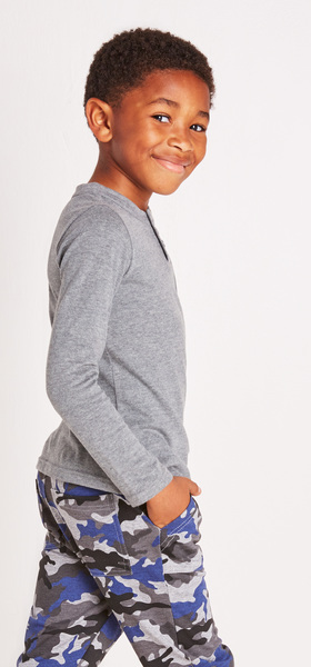 Grey Pocket Henley Outfit