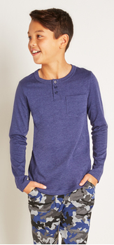 Blue Pocket Henley Outfit