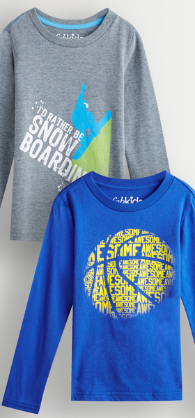 Snowboard & Basketball Tee Pack