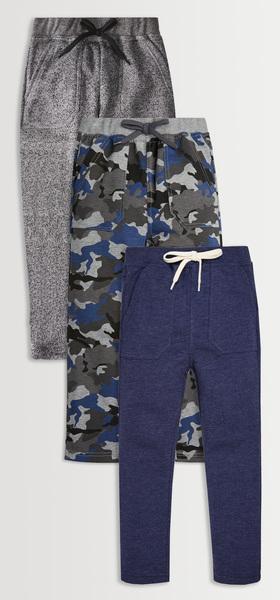 Blue Camo Harem Pants 3-Pack