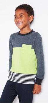 Colorblock Pocket Tee Outfit