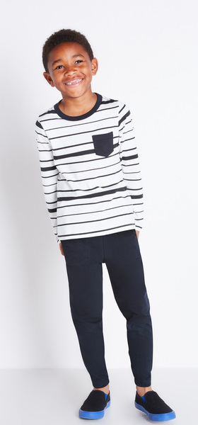 Striped Pocket Tee Outfit