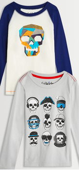 Skull Graphic Tee Pack