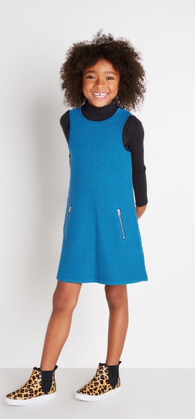 Mod Blue Dress Outfit