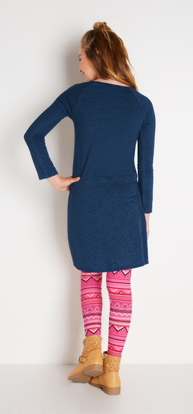 Pink & Indigo Dress Outfit