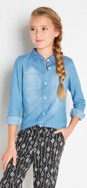 Chambray Tribal Jogger Outfit