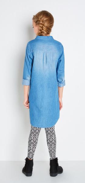 Chambray Tribal Dress Outfit