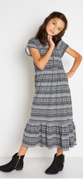 Mosaic Tribal Maxi Dress Outfit