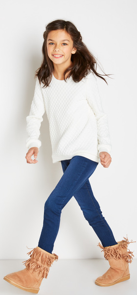 Quilted Sweatshirt Denim Outfit
