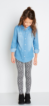 Chambray Shirt Tribal Outfit