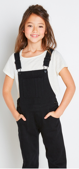 Black Denim Overall Outfit