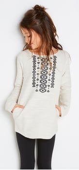 Tribal Print Tunic Outfit