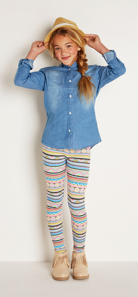 Hat Boho Chambray Outfit