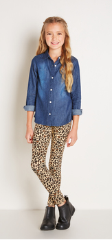 Dark Chambray Cheetah Outfit