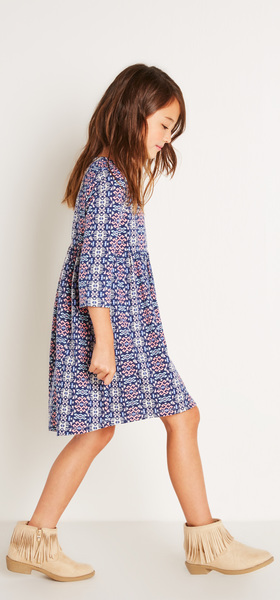 Geo Hi-Low Dress Outfit