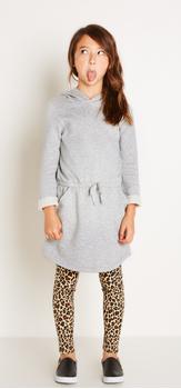 Cheetah + Sweatshirt Dress Outfit