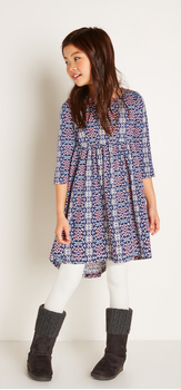 Geo Babydoll Dress Outfit