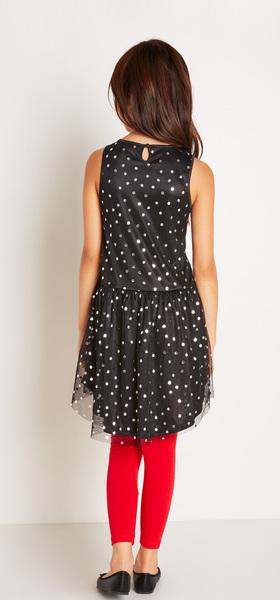 Silver Dot Tutu Dress Outfit
