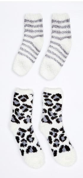 Grey Fuzzy Sock Pack