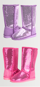 Sequin Fuzzy Shoe Pack