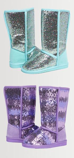 Glitter Ombre Fuzzy Shoe Pack