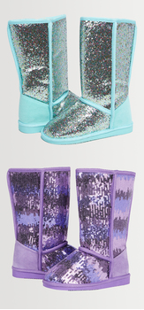 Glitter Ombre Fuzzy Shoe Pack