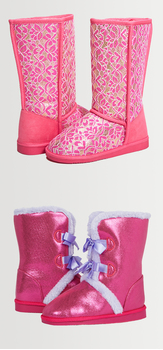 Pink Lace Fuzzy Shoe Pack