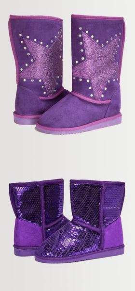 Purple Star Fuzzy Shoe Pack