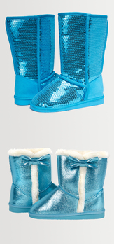 Turquoise Fuzzy Shoe Pack