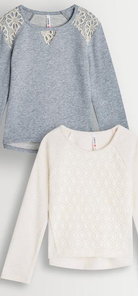 Lace + Eyelet Sweatshirt Pack