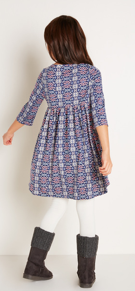 The Geo Babydoll Dress Outfit