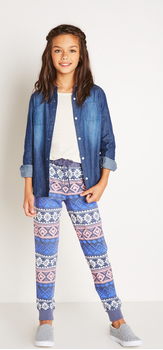 Chambray Fair Isle Jogger Outfit