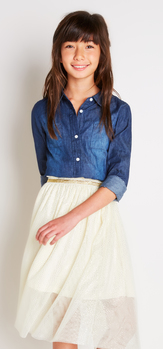 Chambray Shimmer Tutu Outfit