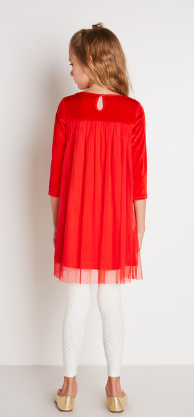 The Red Tulle Dress Outfit