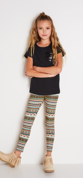 Sequin Pocket Tee Outfit