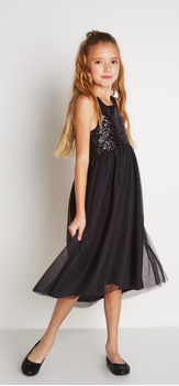 Black Tulle Sequin Dress Outfit