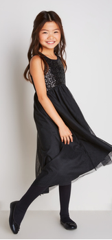 The Black Tulle Sequin Dress Outfit