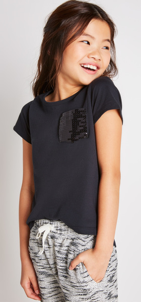 The Sequin Pocket Tee Outfit