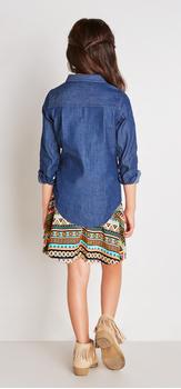 Chambray Boho Skirt Outfit