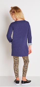 Indigo Cheetah Dress Outfit