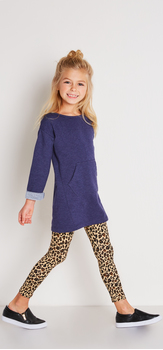 Indigo Cheetah Dress Outfit