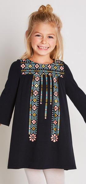 Boho Print Dress Outfit