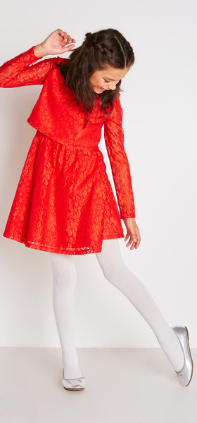 Red Lace Dress Outfit