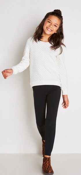 Quilted Sweater Jegging Outfit