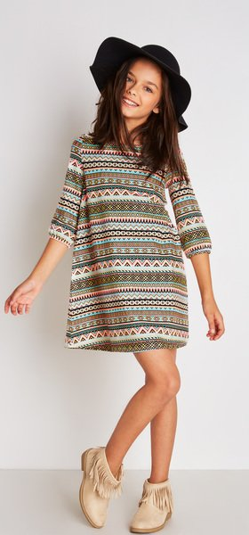Tribal A-Line Dress Outfit