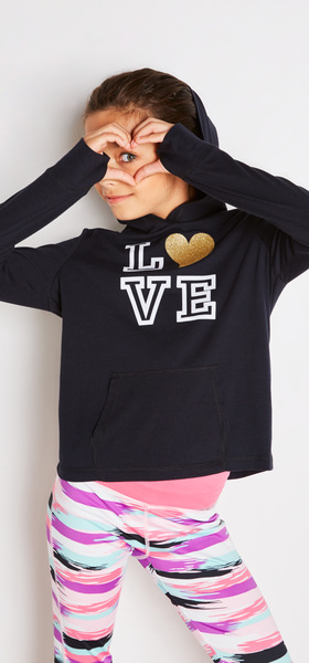 Love Hoodie Active Outfit